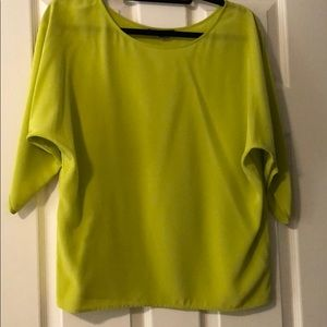Dolman sleeve Vince blouse in chartreuse